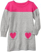 Gap Heart colorblock sweater dress