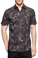 Calvin Klein Men's Cumulus Print Short Sleeve Woven Shirt