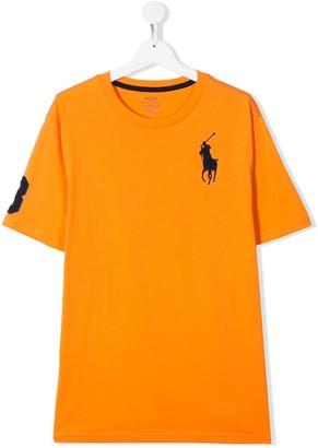 Ralph Lauren Kids TEEN embroidered logo T-shirt