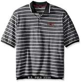 U.S. Polo Assn. Men's Big-Tall Embellished Pencil Stripe Polo Shirt