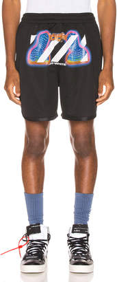 Off-White Off White Thermo Mesh Shorts in Black Multi | FWRD