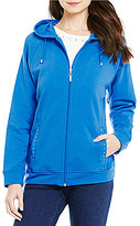 Allison Daley Petite Zip Front Hooded Jacket