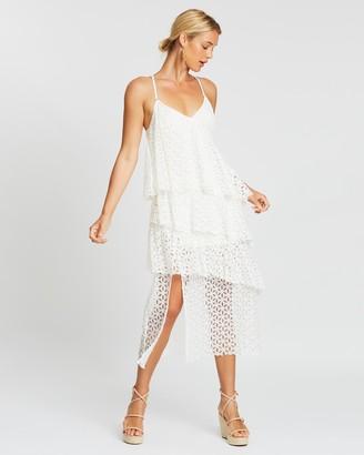 MinkPink Euphoric Lace Midi Dress