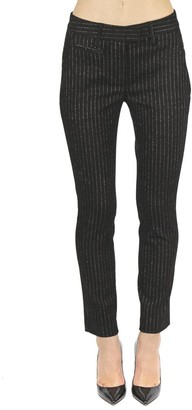 Dondup Black Perfect Cotton Striped Pants