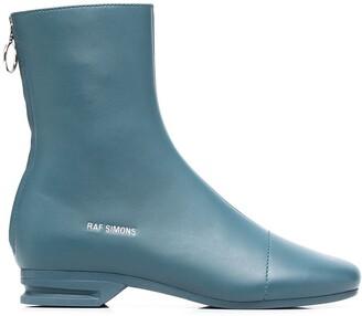 Raf Simons Runner block heel ankle boots
