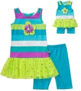 Dollie & Me Girls 4-14 Drop-Waist Tutu Tunic & Knit Biker Shorts Set