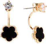 Jardin Black Clover Jacket Earrings