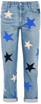 Stella McCartney skinny boyfriend multicolor star jeans