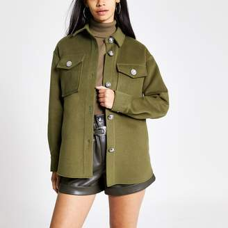 River Island Womens Khaki button front jacket