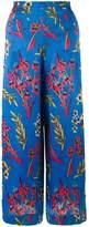 Etro floral print wide leg trousers