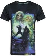 Star Wars Official Return Of The Jedi Sublimation Men's T-Shirt (L)