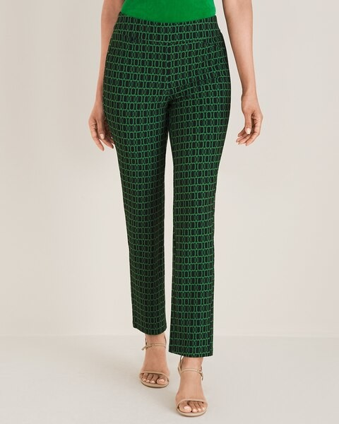 Travelers Collection Geometric-Print Ankle Pants