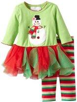Bonnie Baby Girls Newborn Snowman Appliqued Tutu Legging Set