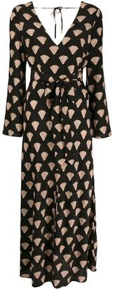 Rixo Nora seashell-print dress