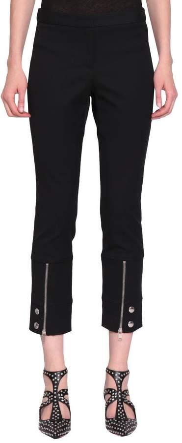 Alexander McQueen Pantalone Cotone Con Zip