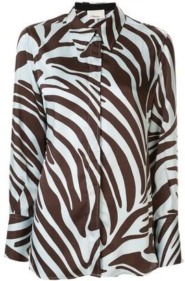 3.1 Phillip Lim Zebra Print Blouse