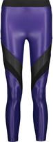 Koral Frame mesh-paneled stretch-jersey leggings