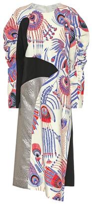 Dries Van Noten Crepe and brocade dress