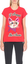 Gucci Cat embroidered cotton-jersey t-shirt