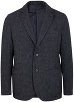 Lardini Navy Reversible Wool Jacket