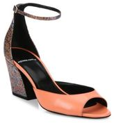 Pierre Hardy Calamity Printed Leather Ankle-Strap Sandals