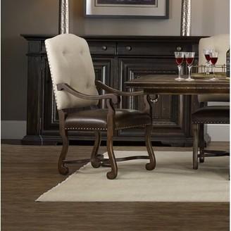 Hooker Furniture Treviso Upholstered Dining Arm Chair (Set of 2