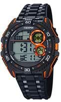Calypso Men's Digital Watch with LCD Dial Digital Display and Black Plastic Strap K5670/6