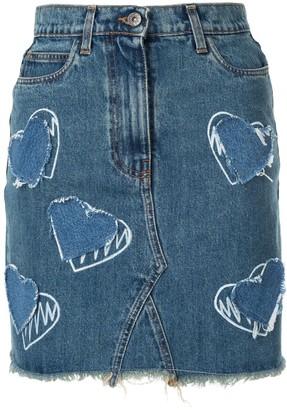 Faith Connexion Heart Print Skirt