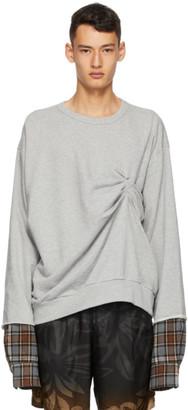 Dries Van Noten Grey Layered Sweatshirt