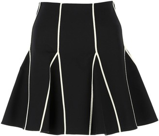 RED Valentino Contrast Stitch Skirt