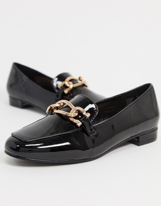 Carvela marble metal trim loafers in black patent