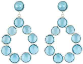 Latelita Hatun Gemstone Statement Earrings Silver Blue Topaz Hydro