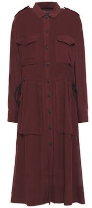 Rag & Bone Crinkled Georgette Shirt Dress