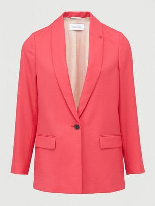 Calvin Klein Coloured Suit Long Blazer - Pink