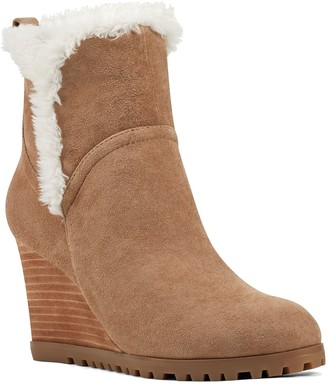 Nine West Cici Women's Suede Wedge Ankle Boots