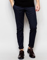 Selected Homme Trousers With Textured Jacquard In Skinny Fit