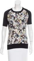 Erdem Silk & Cashmere Floral Print Sweater