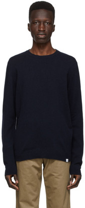 Norse Projects Navy Wool Sigfred Sweater
