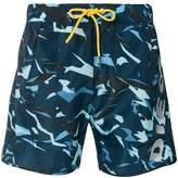 Diesel camouflage swim shorts