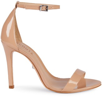 Schutz Patent Leather Ankle-Strap Sandals