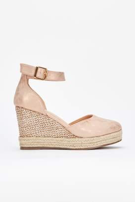 Wallis **Blush Closed Toe Wedge Sandal