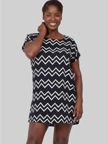 M&Co Izabel Curve zig zag shift dress