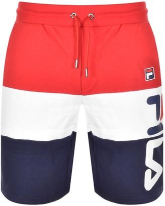 Fila Vintage Stu 2 Cut And Sew Logo Shorts Red