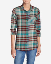 Eddie Bauer Women's Stine's Favorite Flannel Shirt - One-Pocket Boyfriend