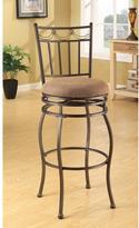 Acme Tavio Fabric Bar Chair in Dark Bronze (Set of 2)