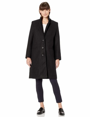 Amazon Essentials Plh Button-front Coat Wool Blend