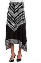 Allison Daley Petites Pull-On Handkerchief Midi Skirt