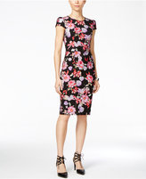 Betsey Johnson Floral-Print Scuba Midi Dress