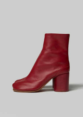 Maison Margiela Women's Tabi Boot in Red Size 36 Leather