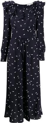 Alessandra Rich petal print silk dress